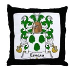 Esneau Family Crest Throw Pillow