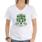 Esneau Family Crest Women's V-Neck T-Shirt