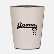 Ayana Classic Retro Name Design with Pa Shot Glass