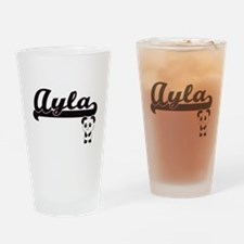 Ayla Classic Retro Name Design with Drinking Glass