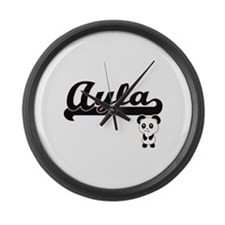 Ayla Classic Retro Name Design wi Large Wall Clock