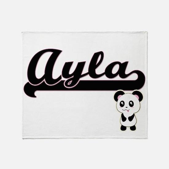 Ayla Classic Retro Name Design with Throw Blanket