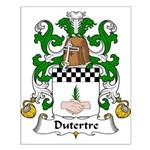 Dutertre Family Crest Small Poster