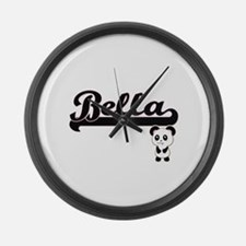 Bella Classic Retro Name Design w Large Wall Clock