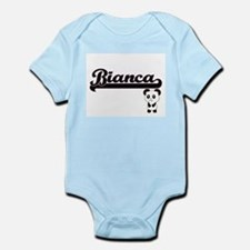 Bianca Classic Retro Name Design with Pa Body Suit