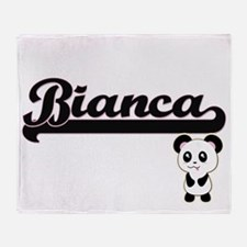 Bianca Classic Retro Name Design wit Throw Blanket