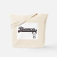 Bianca Classic Retro Name Design with Pan Tote Bag