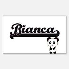 Bianca Classic Retro Name Design with Pand Decal