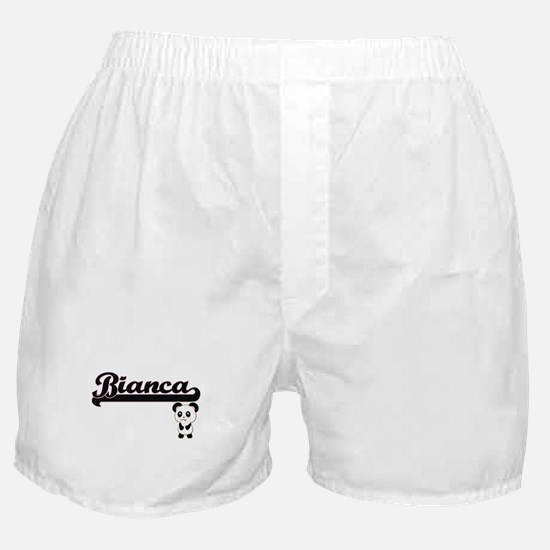 Bianca Classic Retro Name Design with Boxer Shorts