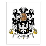 Dussault Family Crest Small Poster