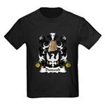 Dussault Family Crest Kids Dark T-Shirt