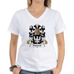 Dussault Family Crest Women's V-Neck T-Shirt