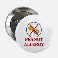 NO PEANUTS Peanut Allergy Button