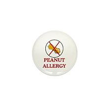 NO PEANUTS Peanut Allergy Mini Button (10 pack)