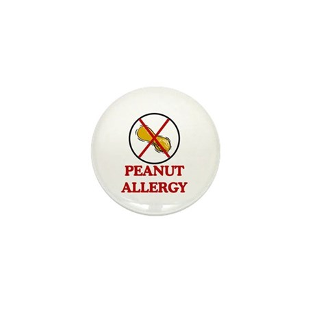 NO PEANUTS Peanut Allergy Mini Button