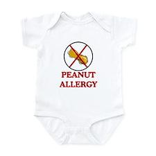 NO PEANUTS Peanut Allergy Infant Bodysuit