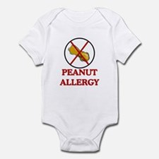 NO PEANUTS Peanut Allergy Infant Bodysuit
