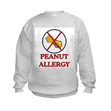 NO PEANUTS Peanut Allergy Sweatshirt