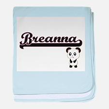 Breanna Classic Retro Name Design wit baby blanket