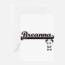 Breanna Classic Retro Name Design w Greeting Cards