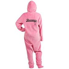 Brenna Classic Retro Name Design wi Footed Pajamas