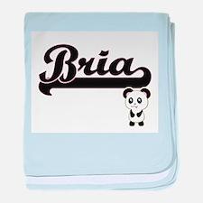 Bria Classic Retro Name Design with P baby blanket