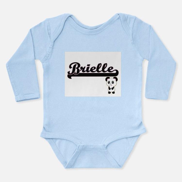 Brielle Classic Retro Name Design with P Body Suit