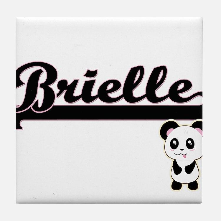 Brielle Classic Retro Name Design wit Tile Coaster