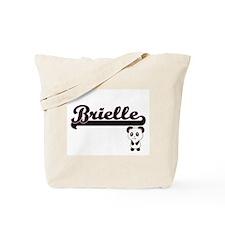 Brielle Classic Retro Name Design with Pa Tote Bag