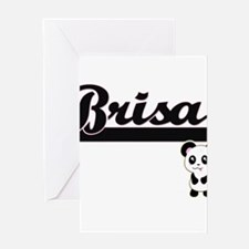 Brisa Classic Retro Name Design wit Greeting Cards