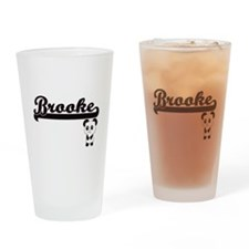 Brooke Classic Retro Name Design wi Drinking Glass