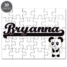 Bryanna Classic Retro Name Design with Pand Puzzle