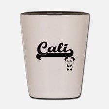 Cali Classic Retro Name Design with Pan Shot Glass