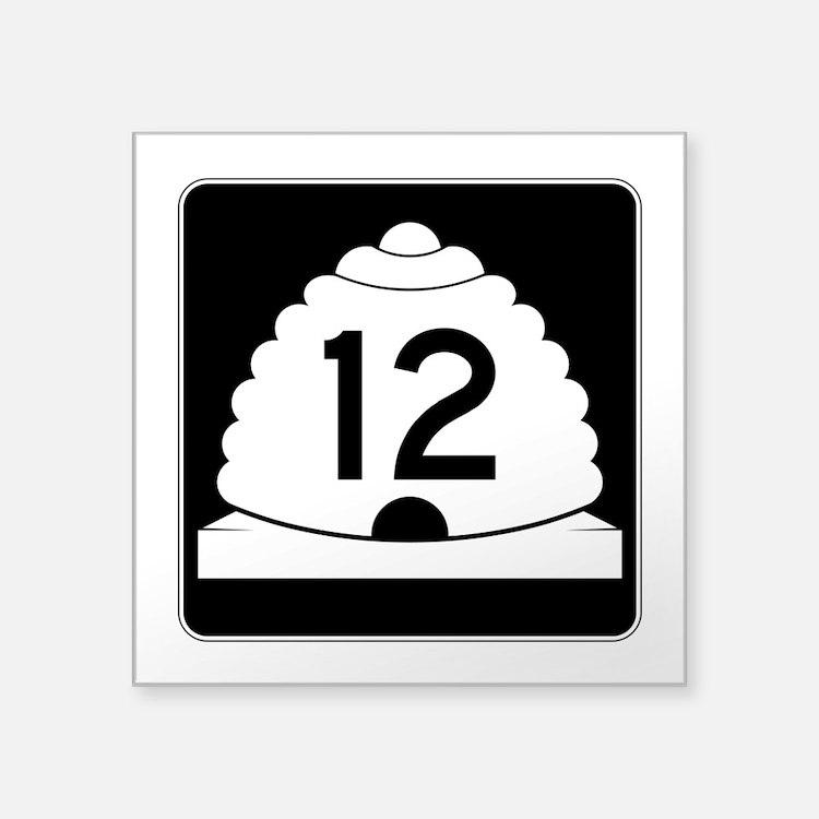 """State Route 12, Utah Square Sticker 3"""" x 3"""""""