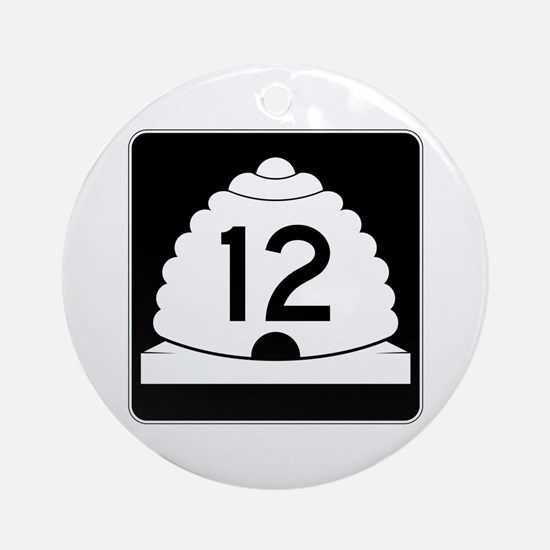 State Route 12, Utah Ornament (Round)