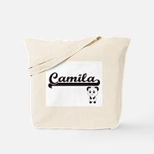Camila Classic Retro Name Design with Pan Tote Bag