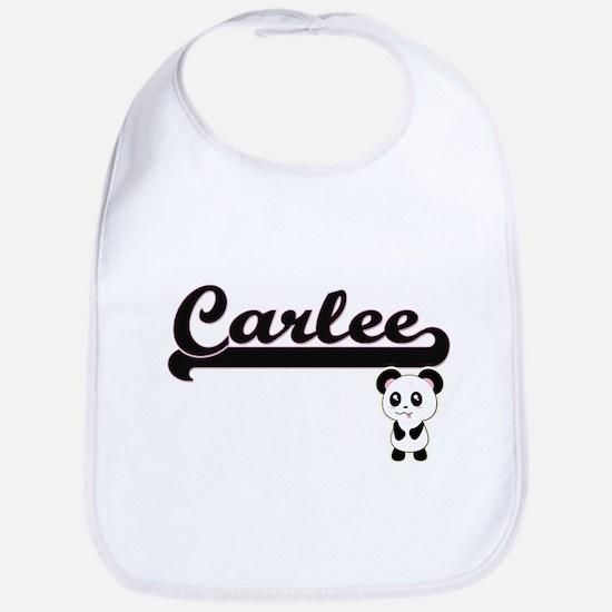 Carlee Classic Retro Name Design with Panda Bib