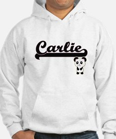 Carlie Classic Retro Name Design Hoodie Sweatshirt