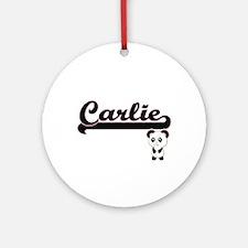 Carlie Classic Retro Name Design Ornament (Round)