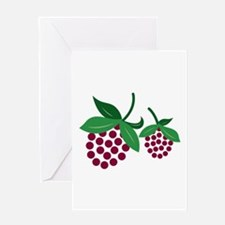 Raspberry Bunch Greeting Cards