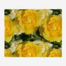 Yellow Roses Throw Blanket