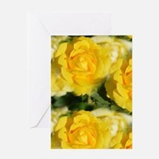 Yellow Roses Greeting Cards