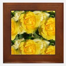 Yellow Roses Framed Tile