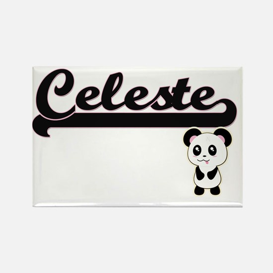 Celeste Classic Retro Name Design with Pan Magnets