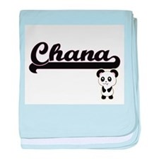 Chana Classic Retro Name Design with baby blanket