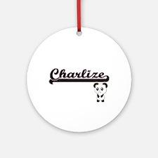 Charlize Classic Retro Name Desig Ornament (Round)