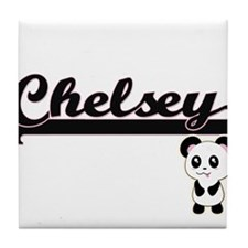 Chelsey Classic Retro Name Design wit Tile Coaster