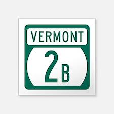 """Route 2B, Vermont Square Sticker 3"""" x 3"""""""