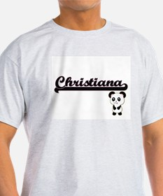 Christiana Classic Retro Name Design with T-Shirt