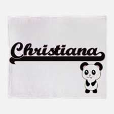 Christiana Classic Retro Name Design Throw Blanket